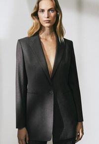 Massimo Dutti - LIMITED EDITION - Blazer - blue-grey/dark grey - 0
