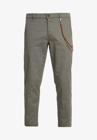 Topman - TAPER - Pantaloni - khaki - 4