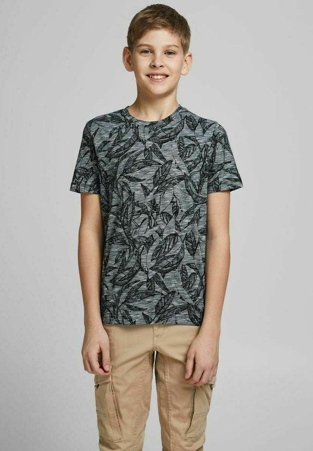 T-shirt print - mottled dark blue