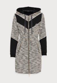 Liu Jo Jeans - MAXI FELPA APERTA - Short coat - nero - 4