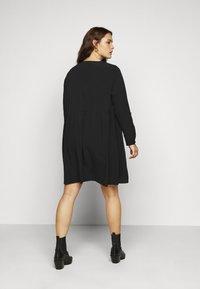 Vero Moda Curve - VMGABRINA SHORT SHIRT DRESS - Day dress - black - 2
