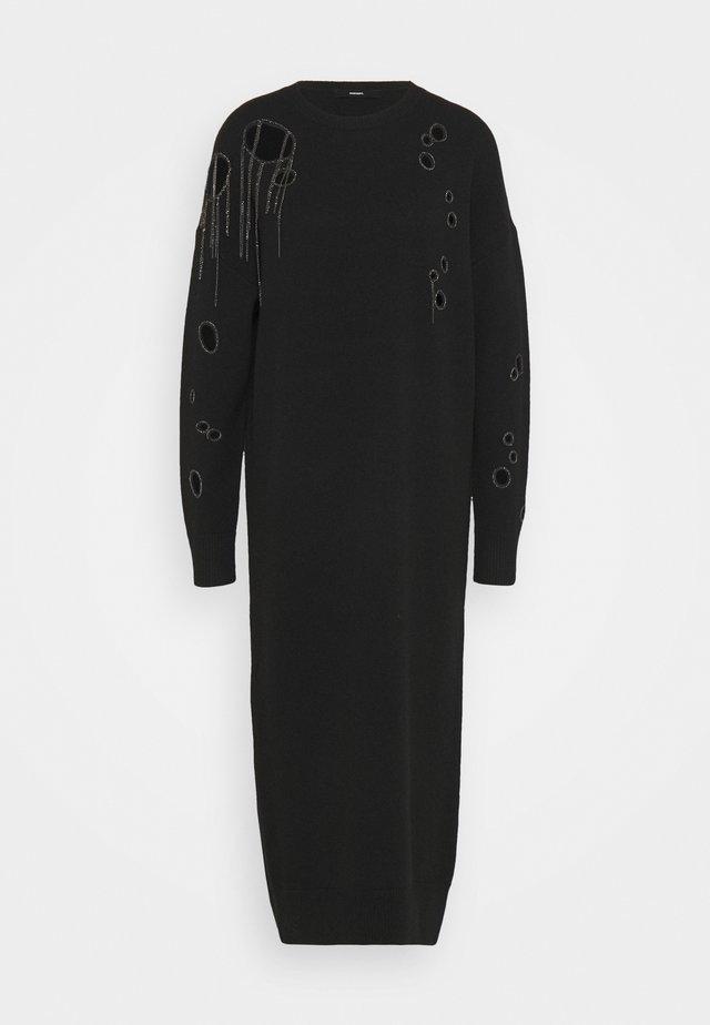 M-EMERALD - Sukienka dzianinowa - black