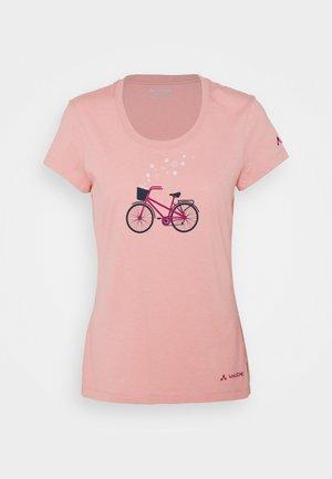 WOMEN'S CYCLIST - T-shirt z nadrukiem - soft rose