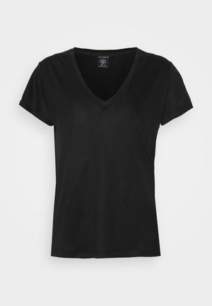 VANJA - Basic T-shirt - black