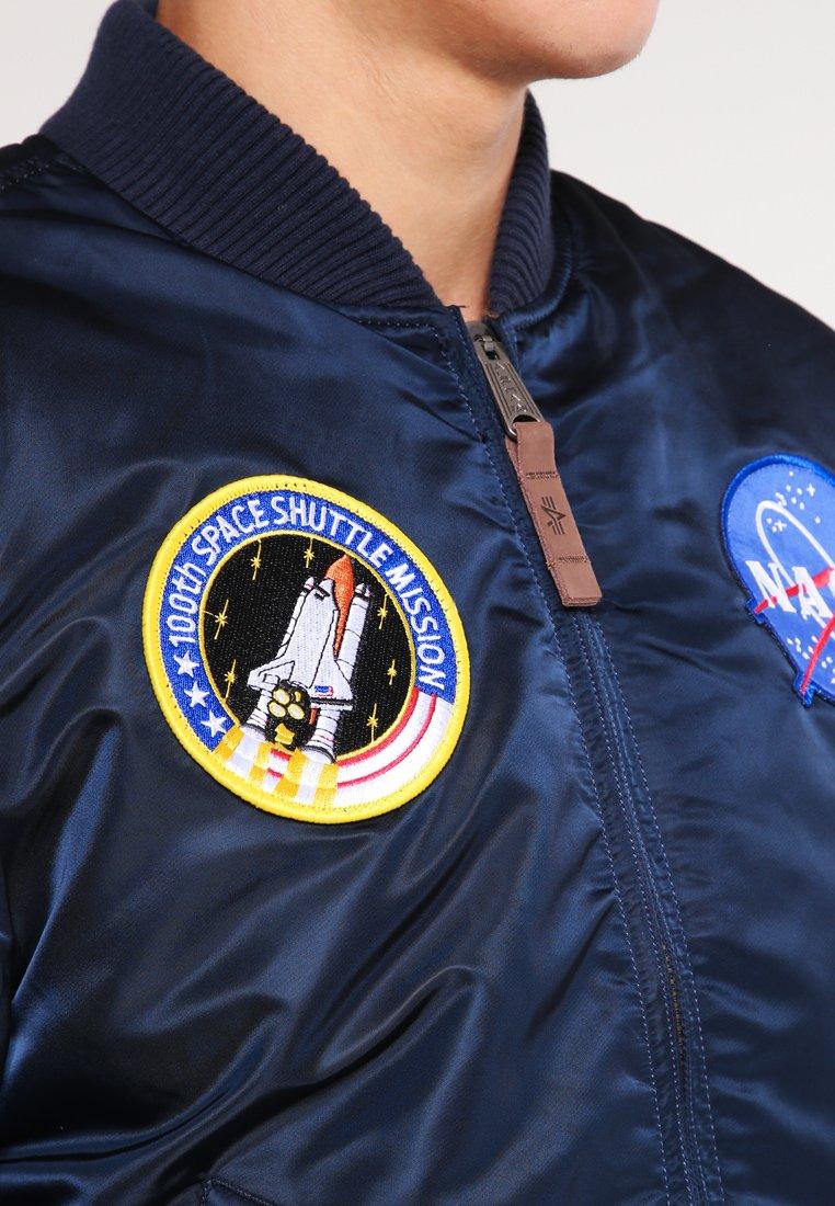Alpha Industries NASA Bombejakke replica bluemørkeblå