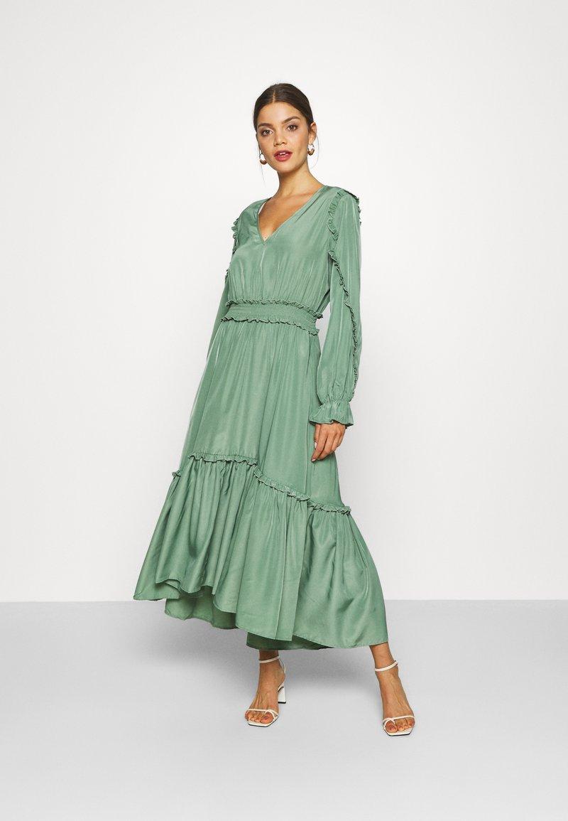 YAS - YASORLEANS DRESS SHOW - Długa sukienka - dark ivy