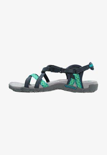 TERRAN LATTICE II - Walking sandals - navy
