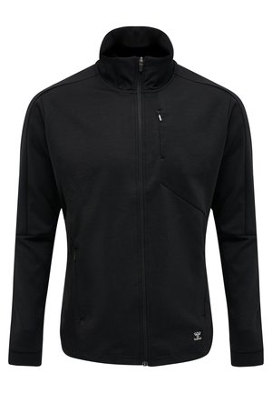 HMLTROPPER - Zip-up hoodie - black