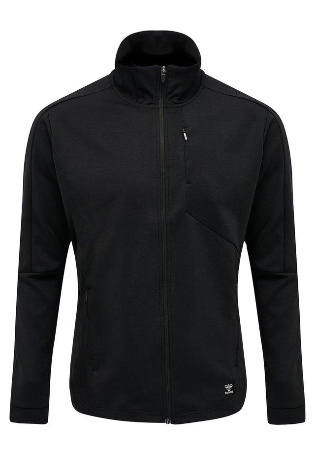 HMLTROPPER - Zip-up hoodie - black