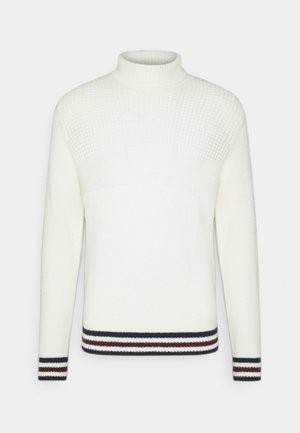 TEXTURED ROLL NECK - Neule - ivory
