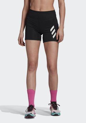 AGRAVIC PRO SHORT TECHNICAL AEROREADY PRIMEGREEN TRAIL RUNNING SHORTS - Leggings - black/white