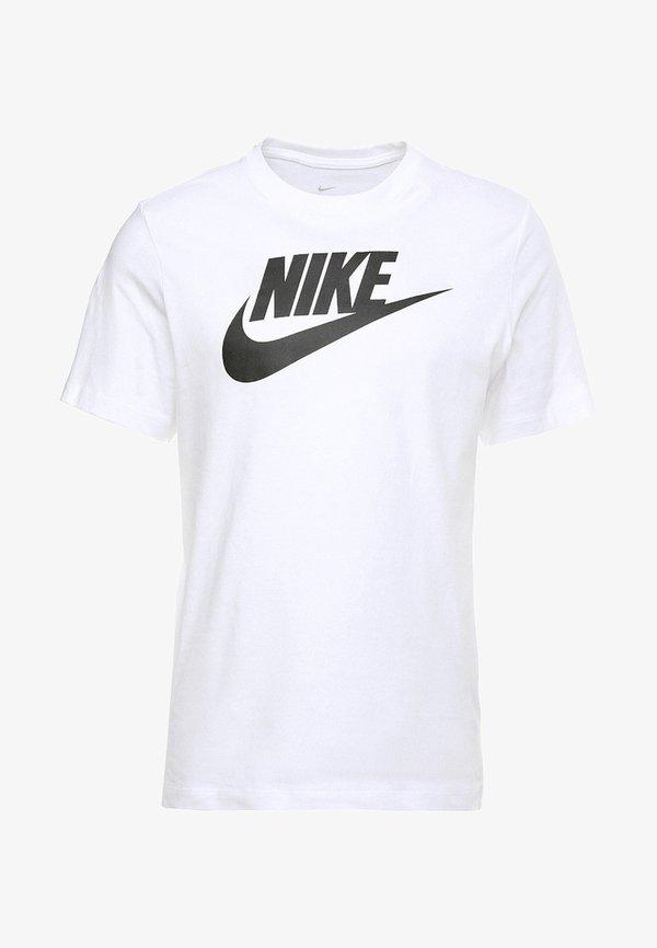 Nike Sportswear TEE ICON FUTURA - T-shirt z nadrukiem - white/black/biały Odzież Męska DBOR