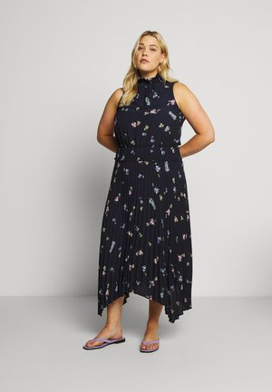 ROMANTIC BUDS PLEATED DRESS - Maxikjoler - dark blue