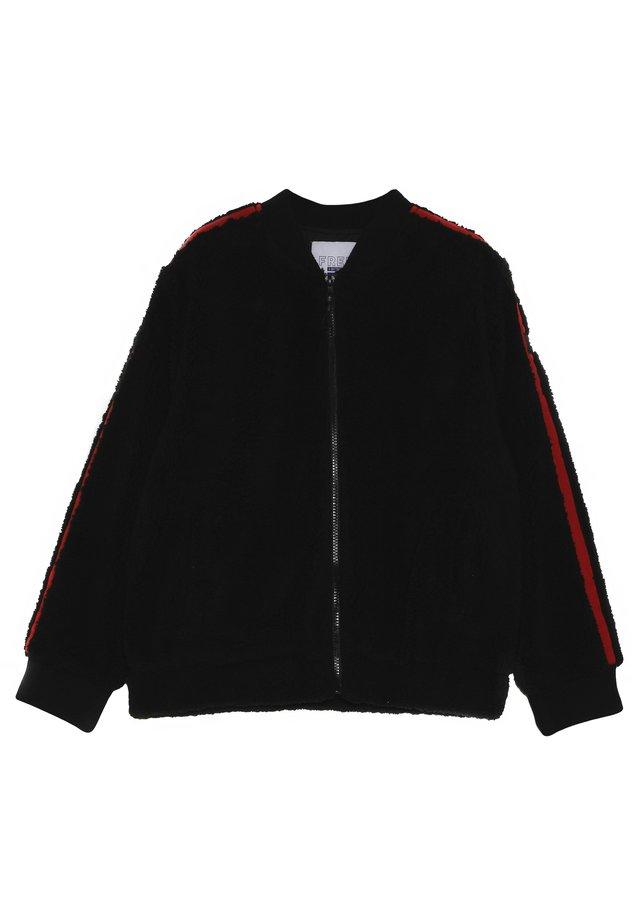 BOMBER JACKET - Lehká bunda - black/red