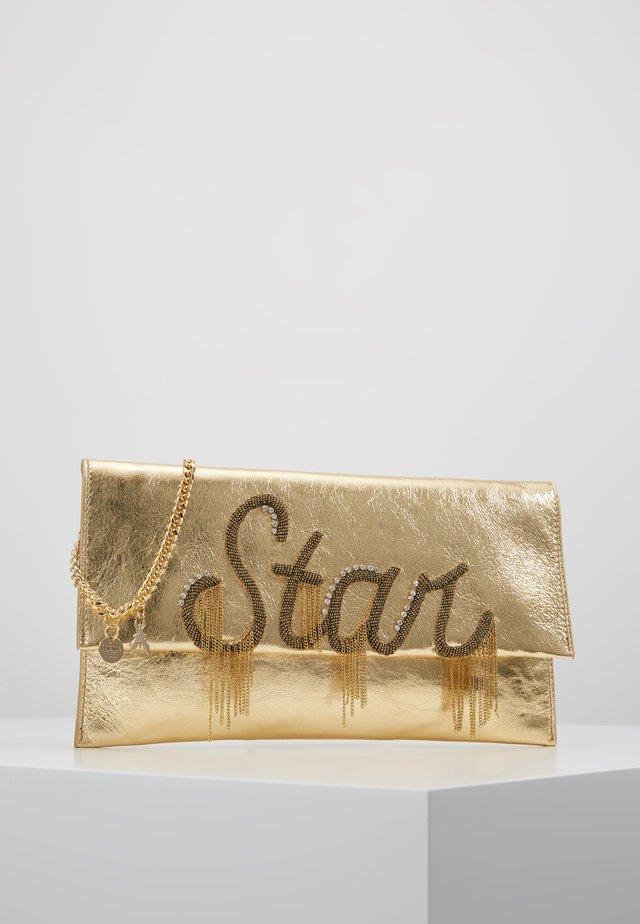 POCHETTE PIPING - Pikkulaukku - gold star