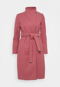 Dorothy Perkins Petite - FUNNEL COLLAR BELTED COAT - Classic coat - blush - 4