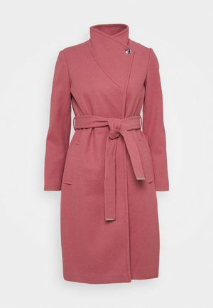 FUNNEL COLLAR BELTED COAT - Classic coat - blush