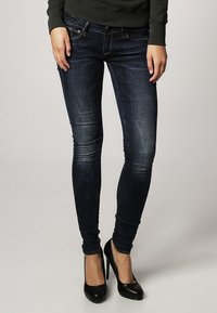 G-Star - 3301 LOW SUPER SKINNY - Jeans Skinny Fit - neutro stretch denim - 1
