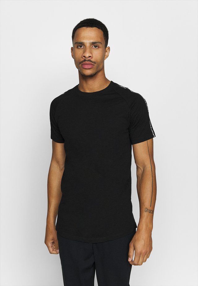 JCOCURVE TRAIN TEE CREW NECK - T-shirt imprimé - black
