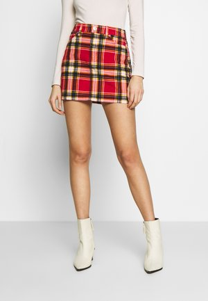 MINI LEPORAD - A-line skirt - preppy red