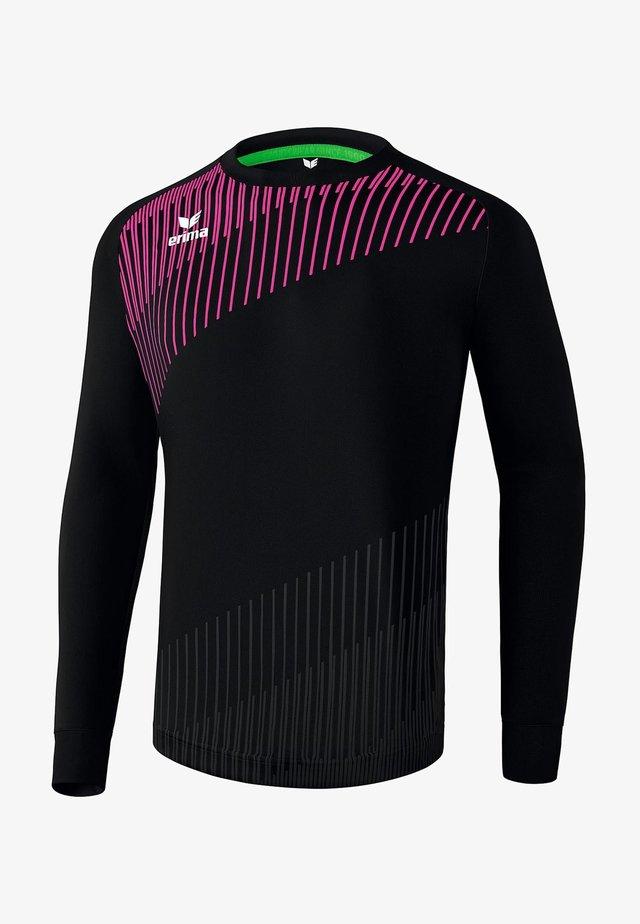 Long sleeved top - schwarz / pink