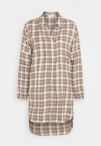Cream - CHEKIA SHIRT - Button-down blouse - brown - 0