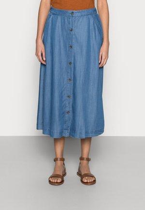 TENCEL SKIRT - Denim skirt - blue medium