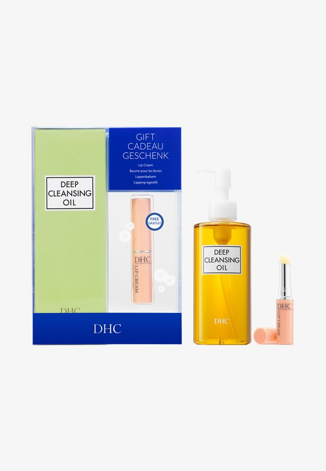 DEEP CLEANSING OIL + LIP CREAM SET - Hudplejesæt - -
