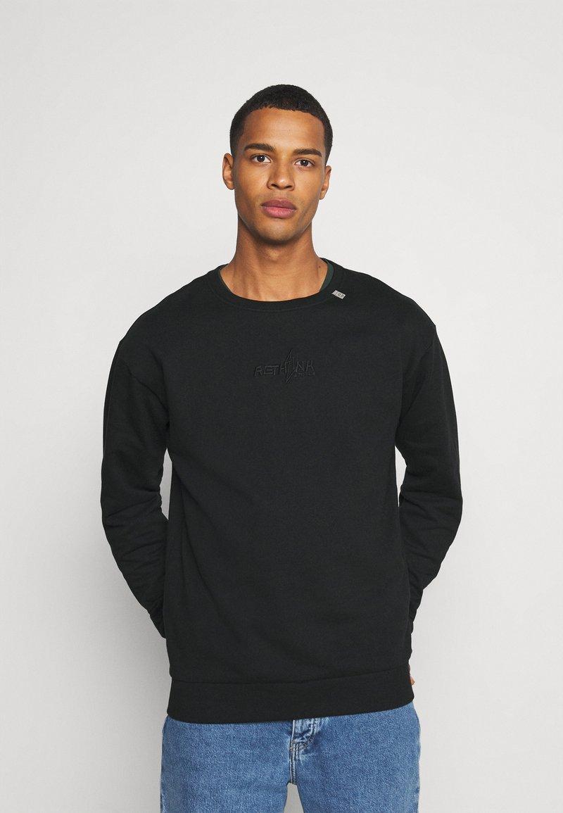 RETHINK Status - CREWNECK UNISEX - Sweatshirt - black
