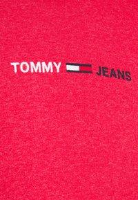 Tommy Jeans - STRAIGHT LOGO HOODIE - Felpa - pink - 5