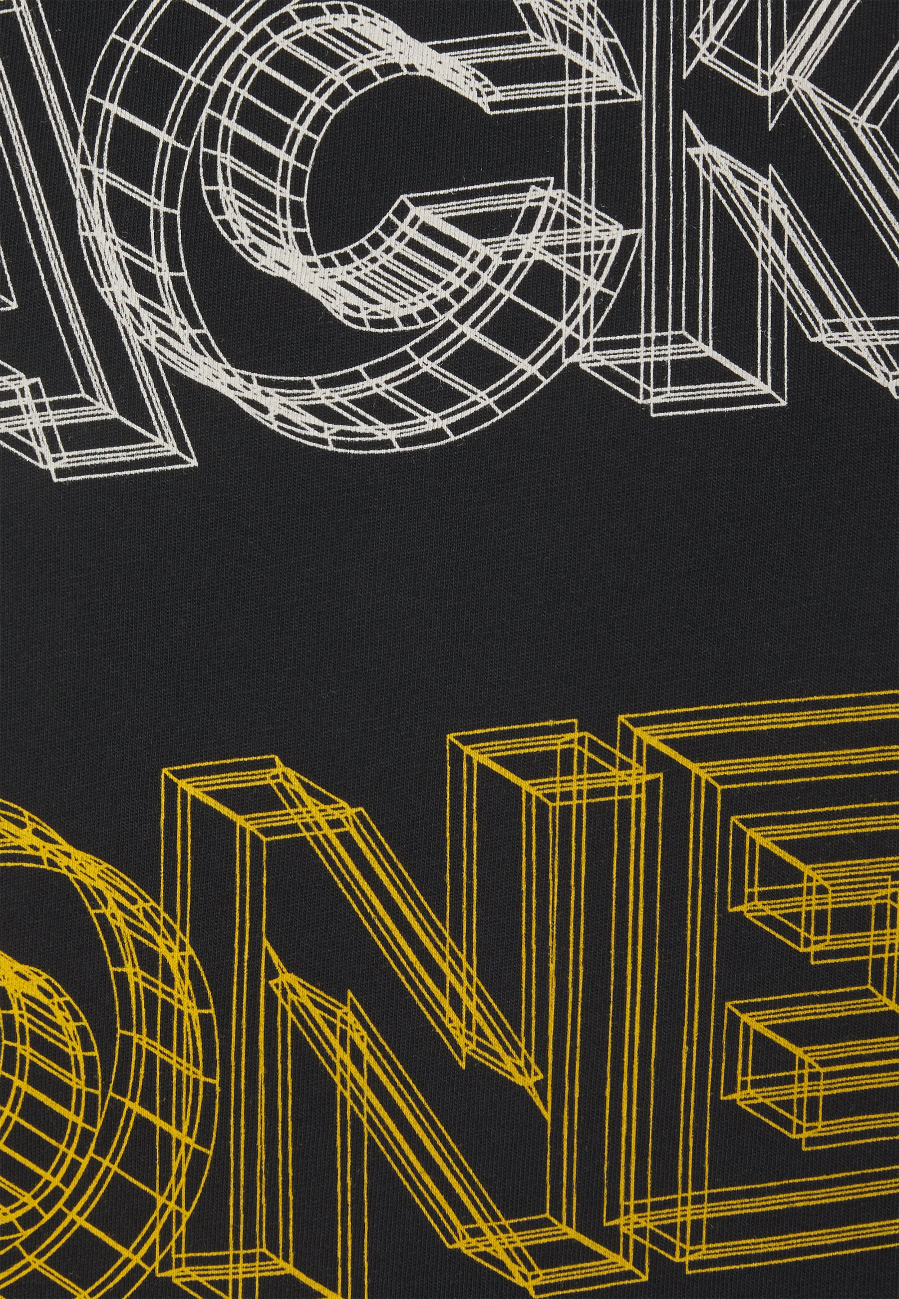 Jack & Jones JJBOXER TEE CREW NECK - Print T-shirt - black xqq7L