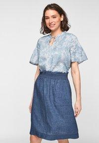 s.Oliver - A-line skirt - faded blue melange - 3
