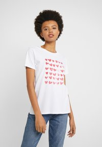J.CREW - MOTHER'S DAY HEARTS CREWNECK - Print T-shirt - ivory - 0