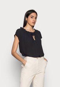 Esprit - BLOUSE - Print T-shirt - black - 0