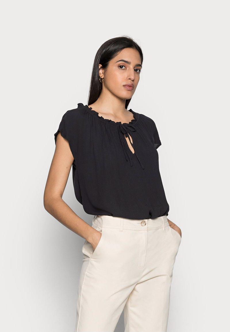 Esprit - BLOUSE - Print T-shirt - black