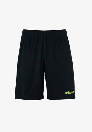 Sports shorts - schwarz/fluo gelb