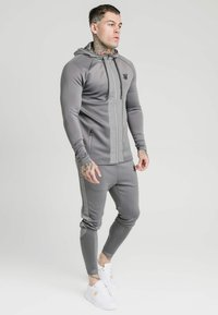 SIKSILK - CREASED ZIP THROUGH HOODIE - Zip-up hoodie - grey - 1