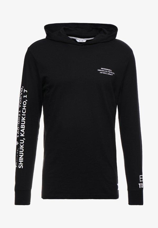 Only & Sons ONSWF DEAN TEE HOODIE - Bluza z kapturem - black/czarny Odzież Męska DRWO