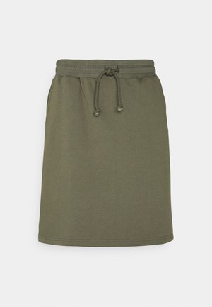 Mini skirt - dusty olive