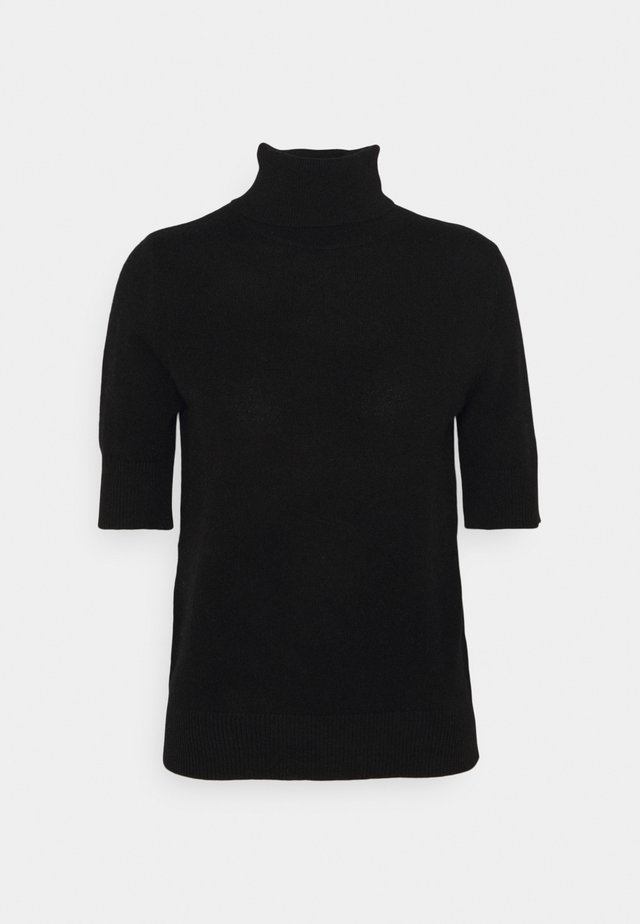 TURTLENECK SHORTSLEEVE - T-shirts med print - black