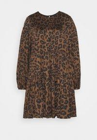 Banana Republic - TIE NECK SHIFT PRINT - Day dress - brown - 4