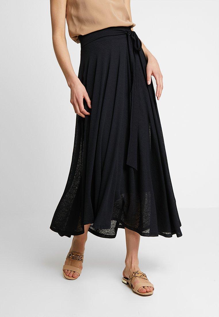 Esprit - SKIRT - Maxi skirt - black