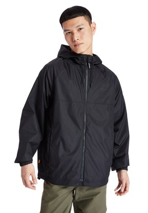 WP HOODED SHELL - Waterproof jacket - black