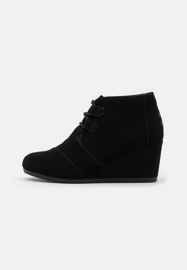 KALA - Lace-up ankle boots - black