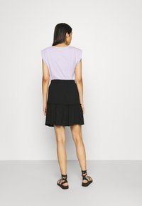 Pieces - PCNEORA SKIRT - A-line skirt - black - 2