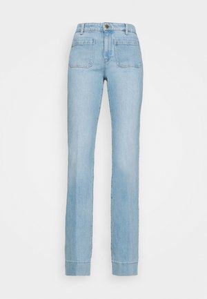 Flared Jeans - clear blue