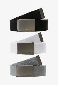 Urban Classics - 3 PACK - Belt - black/grey/white - 4