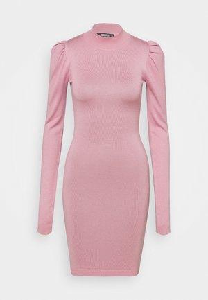 PUFF SLEEVE MINI DRESS - Vestido de tubo - rose