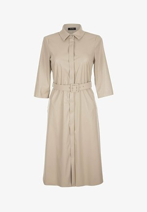 Sukienka koszulowa - beż