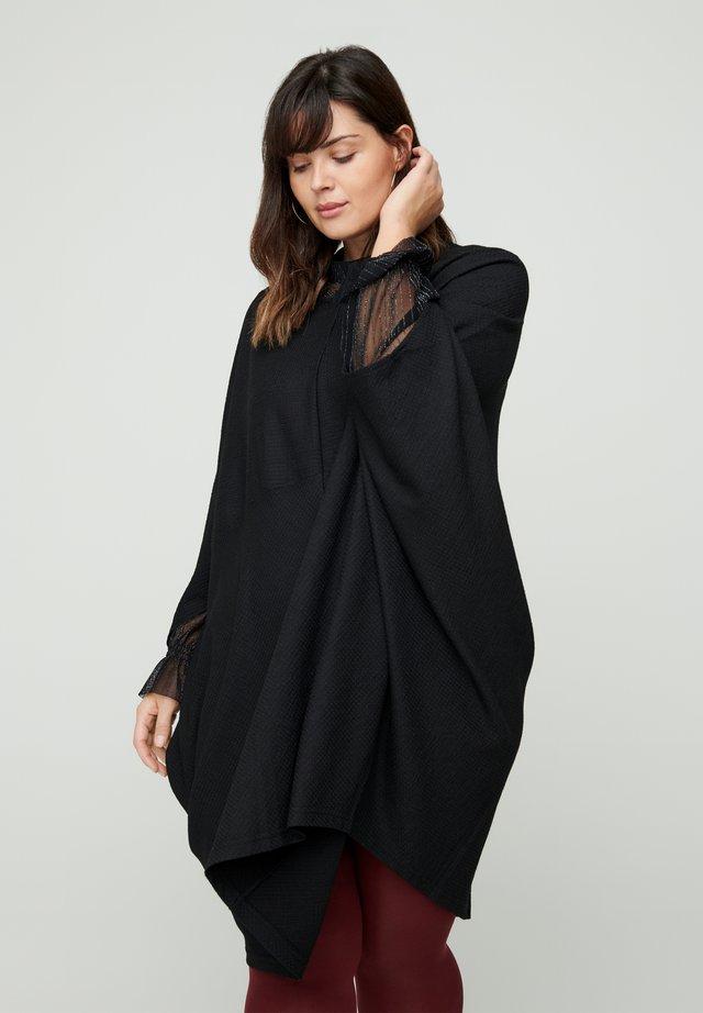 EINFARBIGES MIT STRUKTUR - Day dress - black